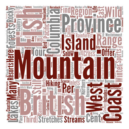 renown: The Wonders Of British Columbia text background word cloud concept