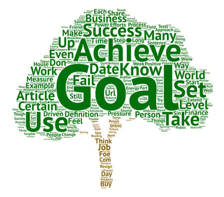 The Use of Goals Friend or Foe text background word cloud concept
