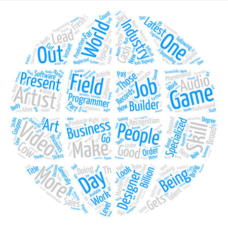 Job Opportunities Word Cloud Concept Text Background