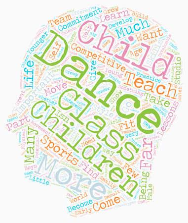 Dance for Children 1 text background wordcloud concept