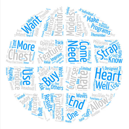 Heart monitors text background word cloud concept