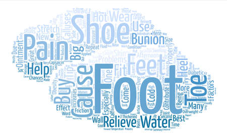 relive: How To Relive Foot Pain Word Cloud Concept Text Background