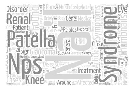 patella: Nail Patella Syndrome Word Cloud Concept Text Background