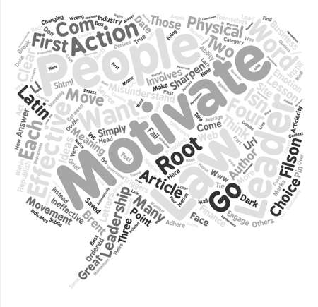 The Four Laws Of Leadership text background word cloud concept