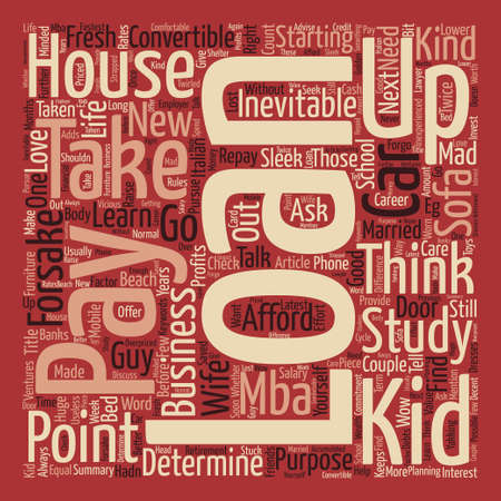 Loans To Take Or Forsake text background word cloud concept