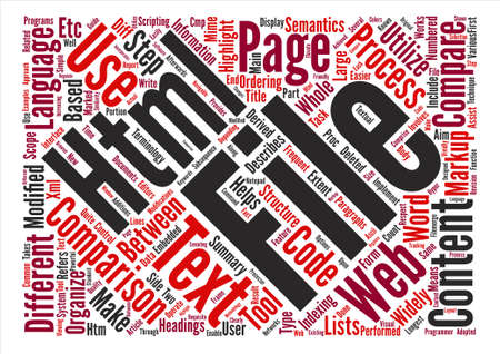 htm: How To Make Comparison Of HTM Files Easier Word Cloud Concept Text Background