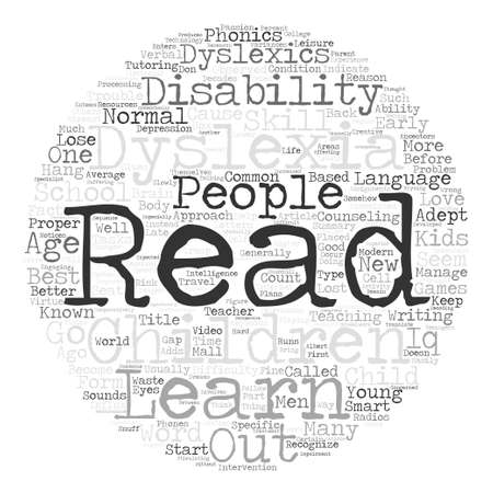 dyslexia: Your Kids Might Be Dyslexics Read On text background word cloud concept Illustration