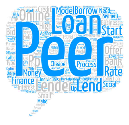 cheaper: Peer To Peer Loans And Student Loans Word Cloud Concept Text Background