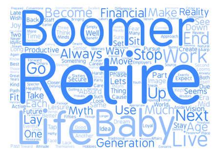 Next Stop Retirement Word Cloud Concept Text Background Illustration