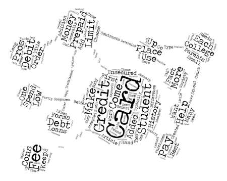 which one: Student Credit Card or Prepaid Debit Which One is Best Word Cloud Concept Text Background