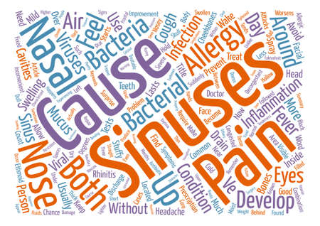 Sinusitis A Nosey Problem Word Cloud Concept Text Background