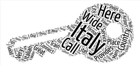 Italy Word Cloud Concept Text Background