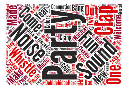 commotion: Party Sounds And Uproars Word Cloud Concept Text Background