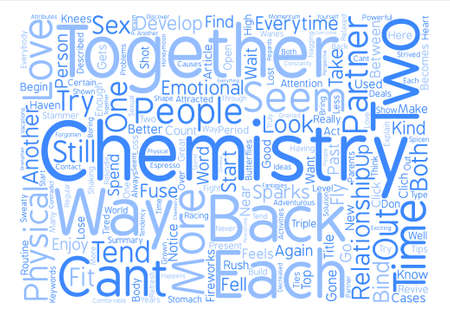 How To Get The Chemistry In Your Relationship Back text background word cloud concept