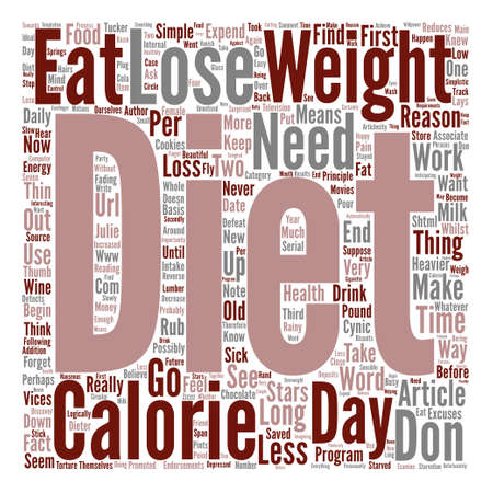 julie: You Don t Need To Go On A Diet To Lose Weight text background word cloud concept