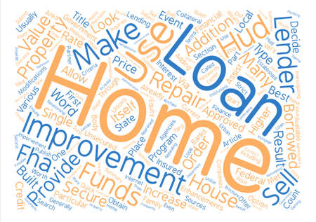 make summary: What To Look For In A Home Improvement Loan Word Cloud Concept Text Background