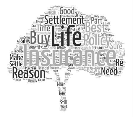 生命保険決済単語クラウド コンセプト テキストの背景  イラスト・ベクター素材