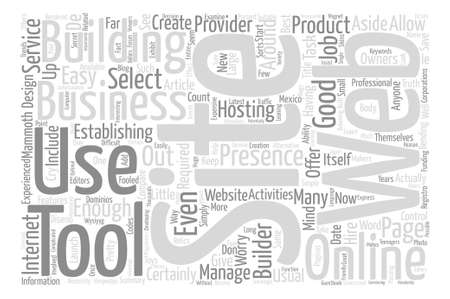 aside: Start With A Site Builder For Your Website Word Cloud Concept Text Background