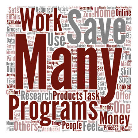How to Earn And Save Monthly Word Cloud Concept Text Background