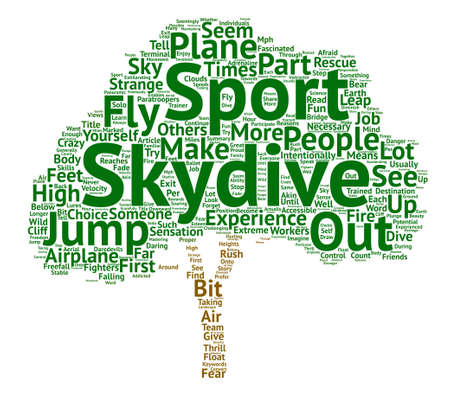 Reasons To Skydive text background word cloud concept Illustration