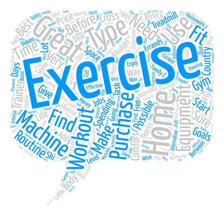 Home Exercise Workout Equipment text background word cloud concept