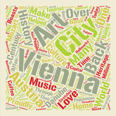 bask: Vienna City Of The Arts text background word cloud concept
