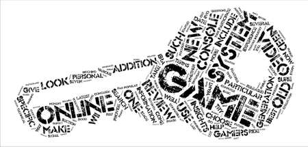 s video: Video game system reviews text background word cloud concept