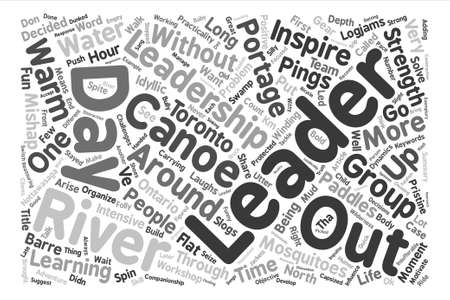 barre: Paddles Portages And Pings On Leadership text background word cloud concept