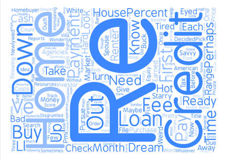 renter: Your First Home Loan What You Need To Know text background word cloud concept