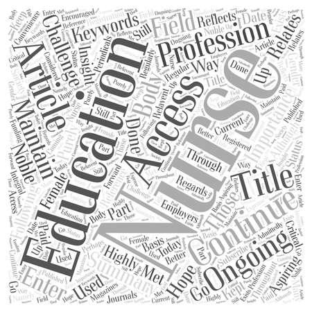 Continuing Education for Nurses Word Cloud Concept