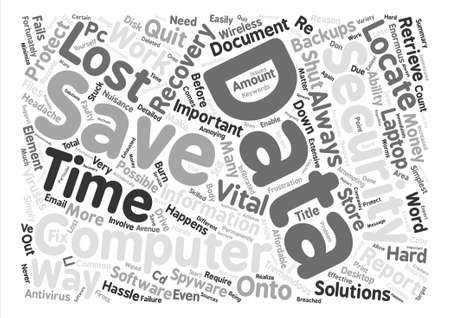tremendous: Data Recovery text background word cloud concept