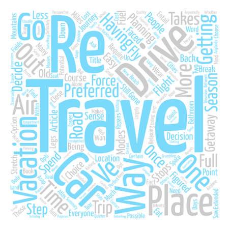 Haben Auto reisen Urlaub mit dem Auto Text Hintergrund Wort Cloud-Konzept