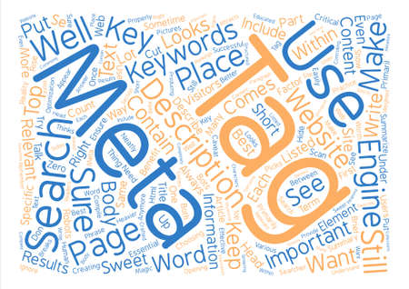 The Use Of Meta Tags Are Important Word Cloud Concept Text Background