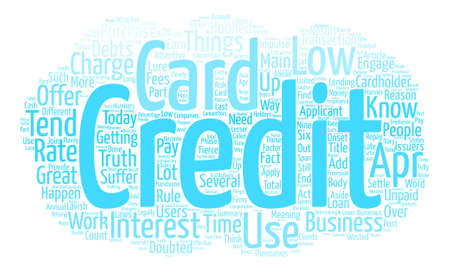 Low Apr Credit Card Know How It Works Word Cloud Concept Text Background