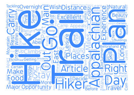 appalachian: The Thrill of Appalachian Trail text background word cloud concept Illustration