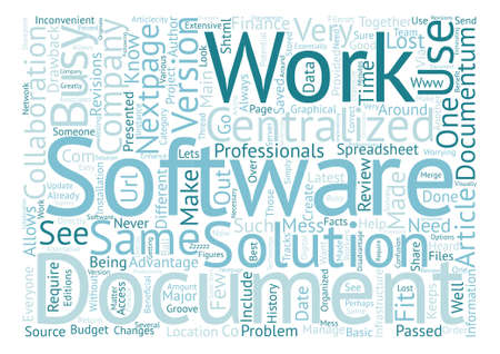 Does your Company have Documentum text background word cloud concept