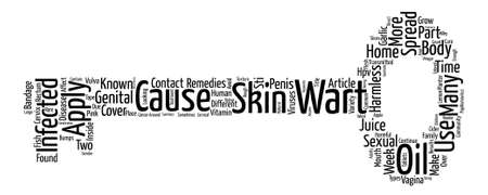 Home Remedies For Warts text background word cloud concept