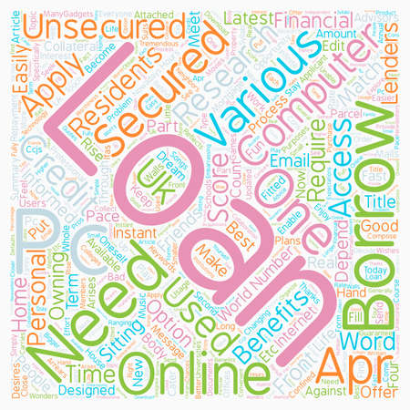 Computer Loans An opportunity to have a computer of your own text background wordcloud concept Illustration
