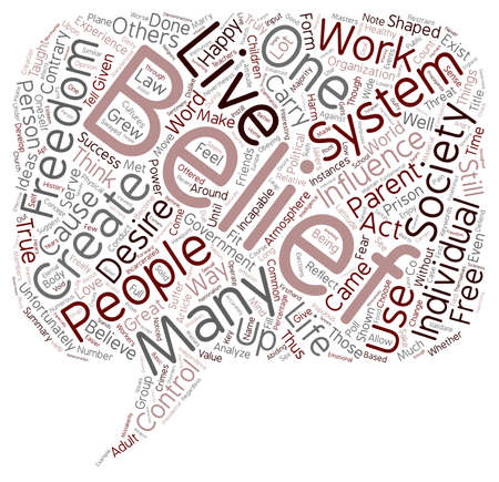 Develop A Belief System That Works For You text background wordcloud concept Stock Vector - 73884201
