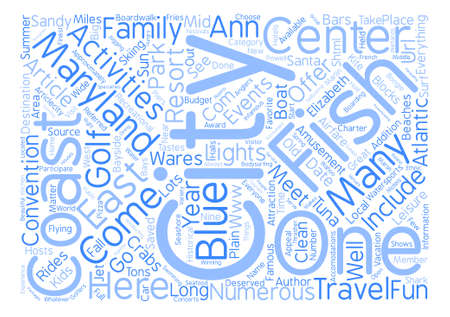 The East Coast s Family Resort text background word cloud concept