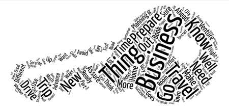 attending: Your First Business Trip text background word cloud concept