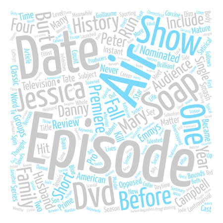 nominated: Soap DVD Review text background word cloud concept