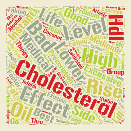 lower cholesterol level text background word cloud concept
