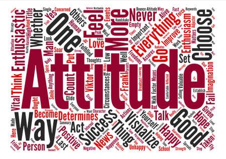 Ways To Improve Your Attitude Word Cloud Concept Text Background Illusztráció