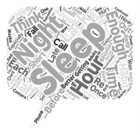 maybe: Sleep Robbers And How To Stop Them text background word cloud concept