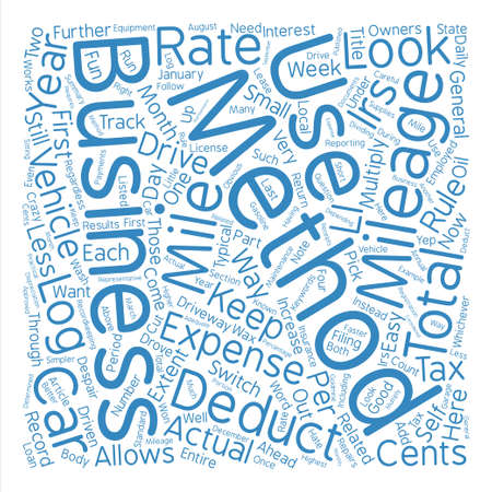 deductions: How To Drive The Irs Crazy text background word cloud concept