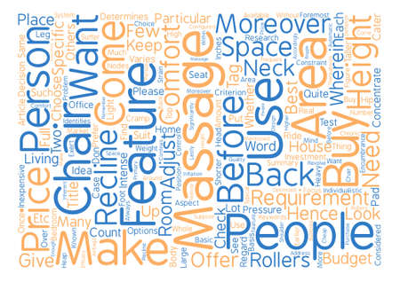 Massage Chairs Word Cloud Concept Text Background