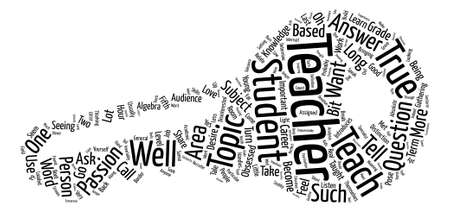 So What Do You Want to Teach text background word cloud concept Illustration