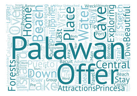 untouched: Palawan The Last Frontier text background word cloud concept