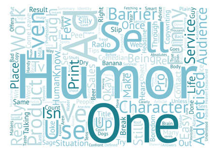 It s Not Funny Unless it Sells Word Cloud Concept Text Background Ilustração